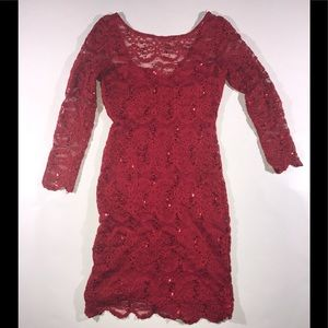 Jump Apparel red sparkly dress